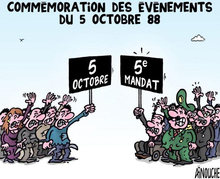 Commémoration des évènements du 5 octobre 88