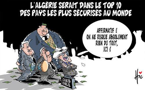 L'Algérie serait dans le top 10 des pays les plus sécurisés au monde