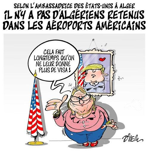 Selon l'ambassadrice des Etats-Unis à Alger: Il n'y a pas d'algériens retenus dans les aéroports américains