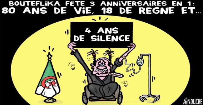 Bouteflika fête 3 anniversaires en 1: 80 ans de vie