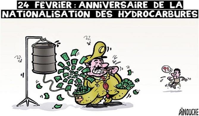 24 février: Anniversaire de la nationalisation des hydrocarbures