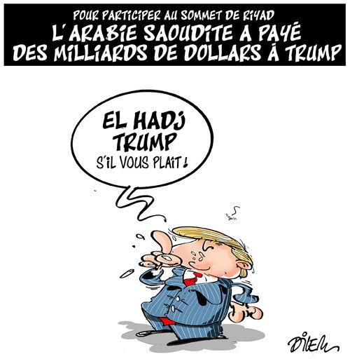 Pour participer au sommet de Riyad: L'Arabie Saoudite a payé des milliards de dollars à Trump