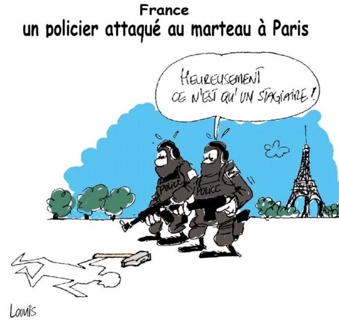 France: Un policier attaqué au marteau à Paris