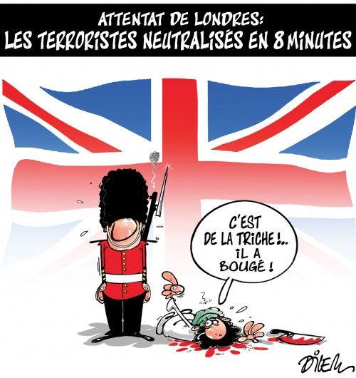 Attentat de Londres: Les terroristes neutralisés en 8 minutes