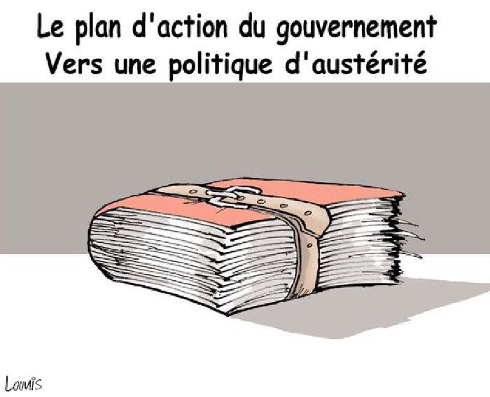 Le plan d'action du gouvernement: Vers une politique d'austérité
