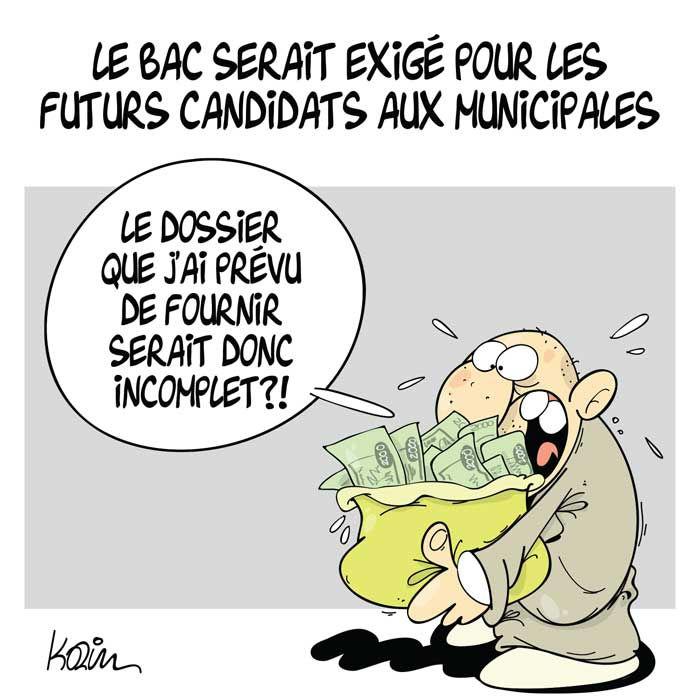 Le bac serait exigé pour les futurs candidats aux municipales