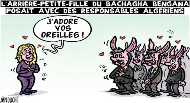 L'arrière petite fille du Bachagha Bengana posait avec des responsables algériens