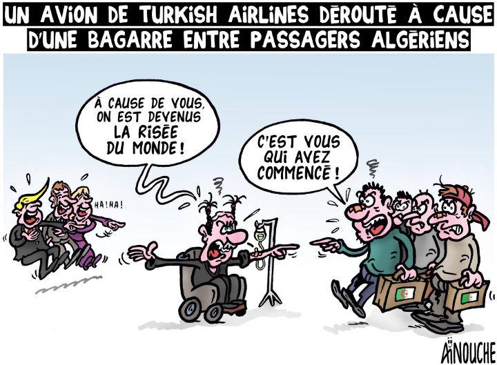 Un avion de Turkish Airlines dérouté à cause d'une bagarre entre passagers algériens