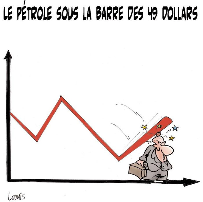 Le pétrole sous la barre des 49 dollars