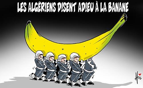 Les Algériens disent adieu à la banane