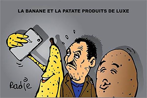 La banane et la patate produits de luxe