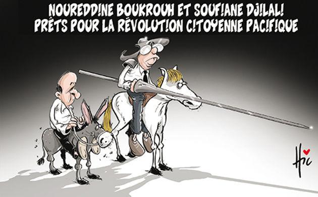 Nouredine Boukrouh et Soufiane Djilali prêts pour la révolution citoyenne pacifique