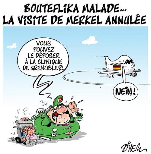 Bouteflika malade: La visite de Merkel annulée