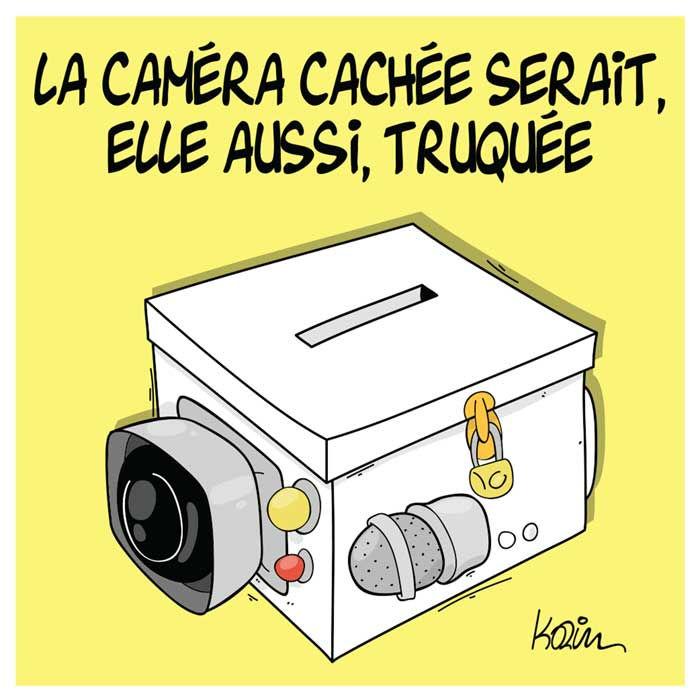 La caméra cachée serait