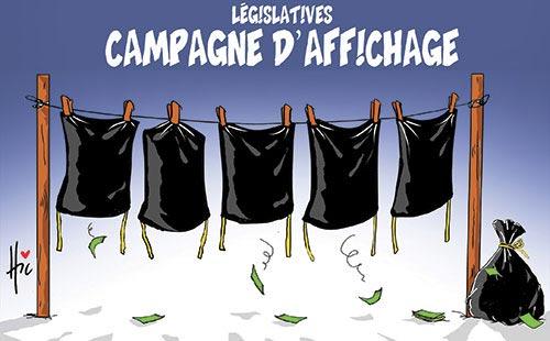 Législatives: Campagne d'affichage