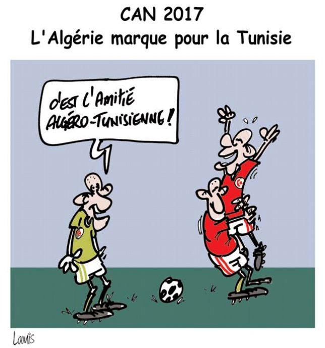 Can 2017: L'Algérie marque pour la Tunisie