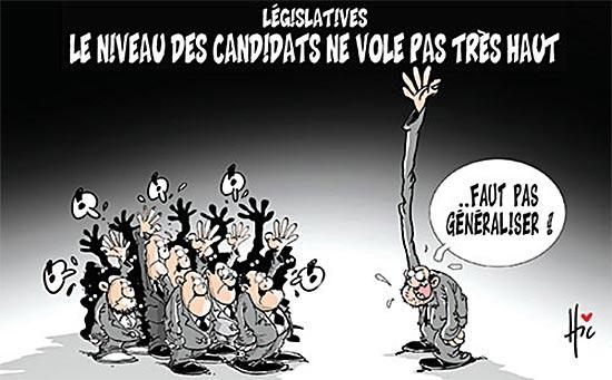 Législatives: Le niveau des candidats ne vole pas très haut