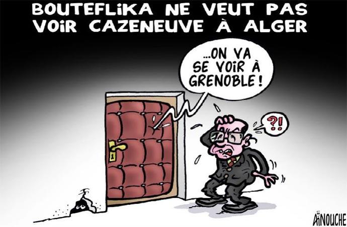 Bouteflika ne veut pas voir Cazeneuve à Alger