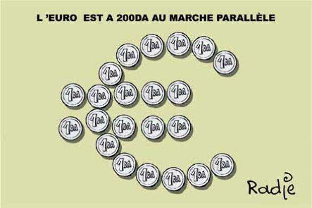 L'euro est à 2000DA au marché parallèle