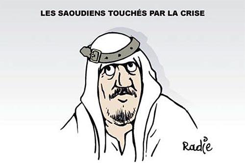 Les Saoudiens touchés par la crise