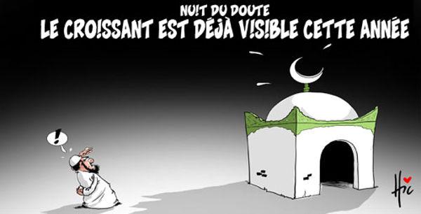 Nuit du doute: Le croissant est déjà visible cette année
