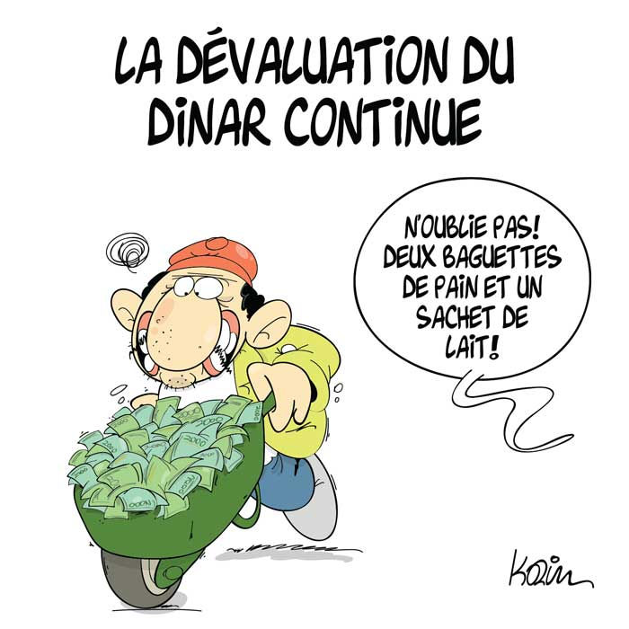 La dévaluation du dinar continue