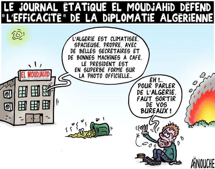 """Le journal étatique El Moudjahid défend """"l'éfficacité"""" de la diplomatie algérienne"""