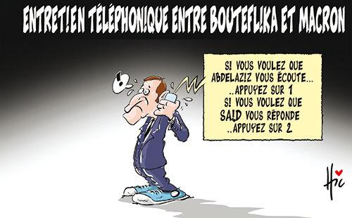 Entretien téléphonique entre Bouteflika et Macron