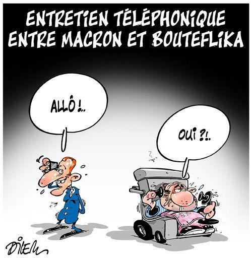 Entretien téléphonique entre Macron et Bouteflika