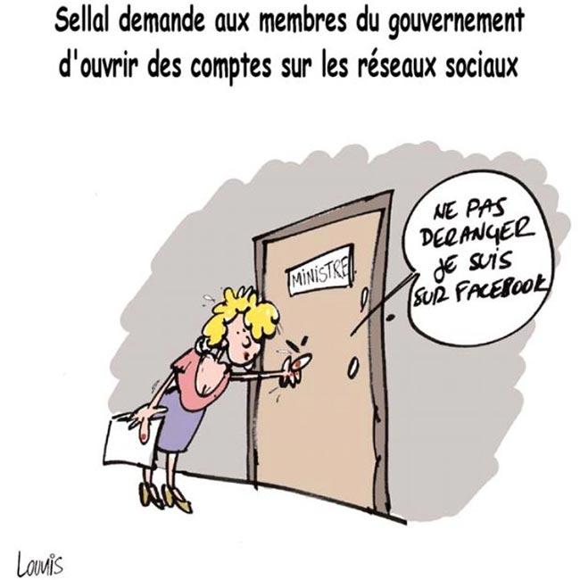 Sellal demande aux membres du gouvernement d'ouvrir des comptes sur les réseaux sociaux