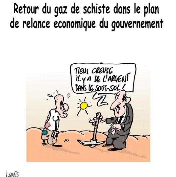 Retour du gaz de schiste dans le plan de relance économique du gouvernement