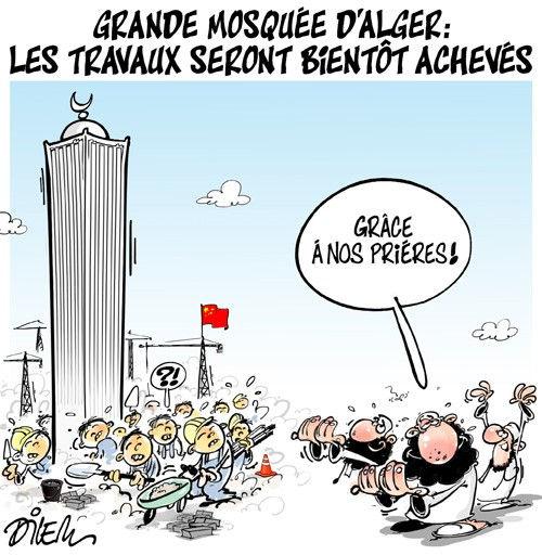 Grande mosquée d'Alger: Les travaux seront bientôt achevés