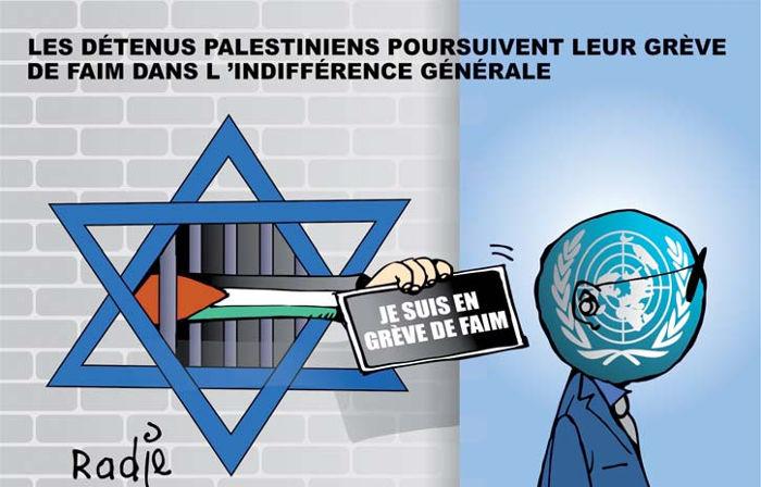 Les détenus palestiniens poursuivent leur grève de la faim dans l'indifférence générale