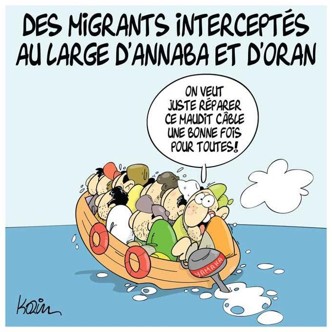 Des migrants interceptés au large d'Annaba et d'Oran