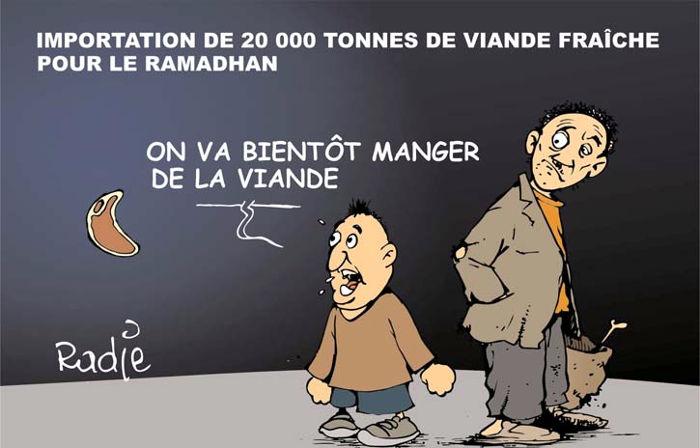 Importation de 20 000 tonnes de viande fraîche pour le ramadhan