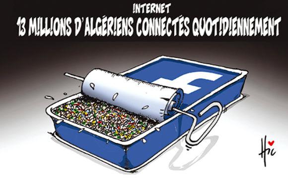 Internet: 13 millions d'algériens connectés quotidiennement