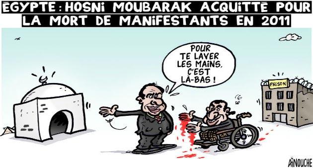 Egypte: Hosni Moubarak acquitté pour la mort de manifestants en 2011