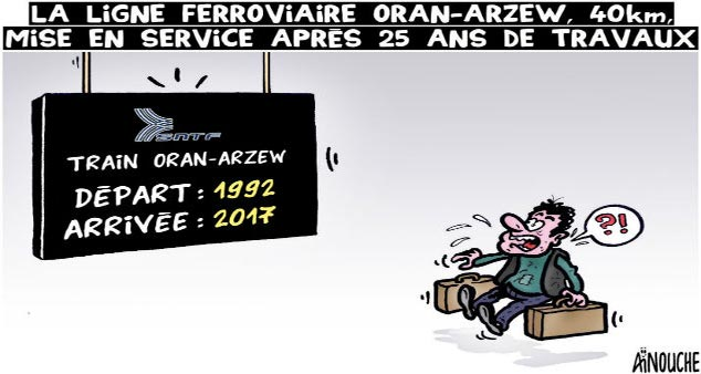La ligne ferroviaire Oran-Arzew