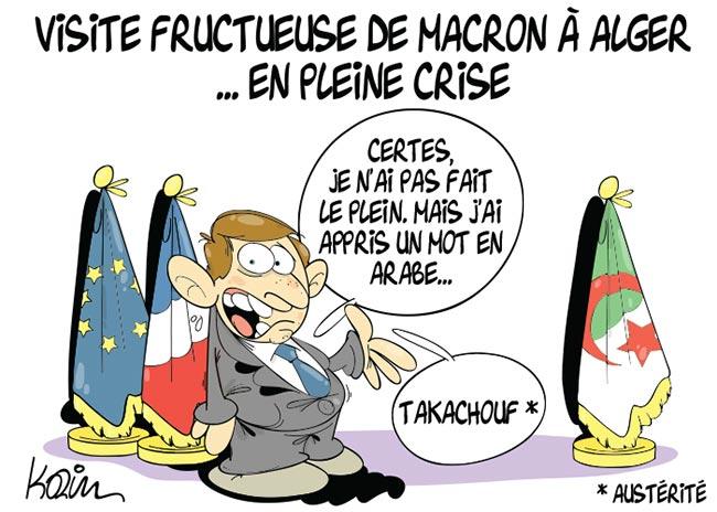 Visite fructueuse de Macron à Alger en pleine crise