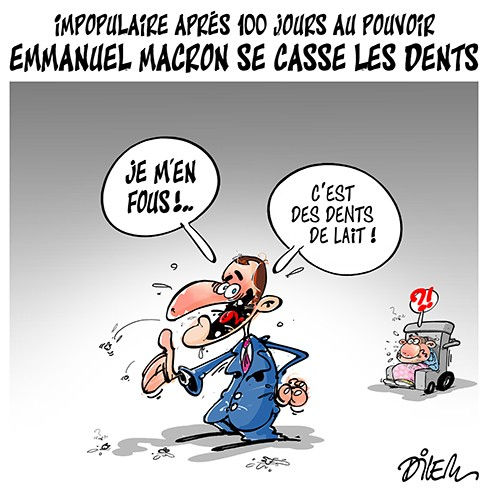 Impopulaire après 100 jours au pouvoir: Emmanuel Macron se casse les dents