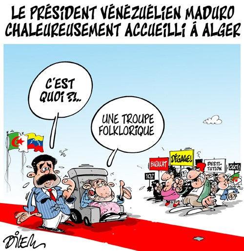 Le président vénézuélien Maduro chaleureusement accueilli à Alger