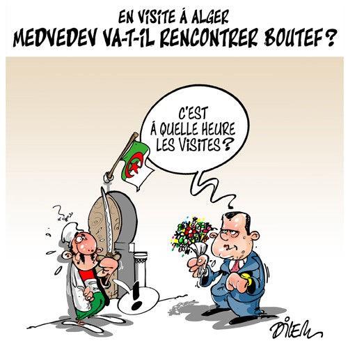 En visite à Alger: Medvedev va-t-il rencontrer Boutef ?