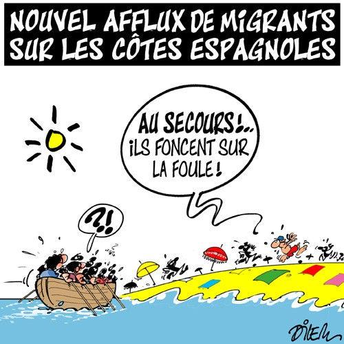 Nouvel afflux de migrants sur les côtes espagnoles