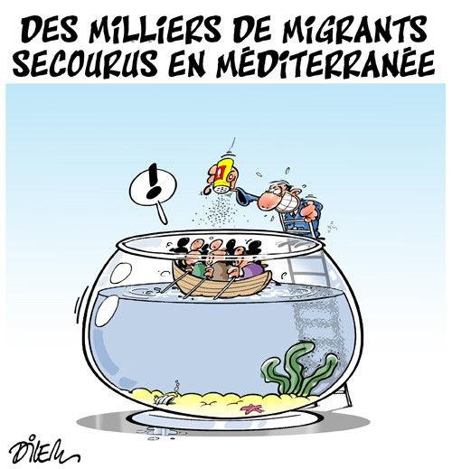 Des miliers de migrants secourus en méditerranée