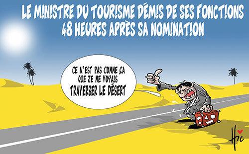 Le ministre du tourisme démis de ses fonctions 48 heures après sa nomination