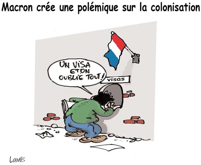 Macron crée une polémique sur la colonisation