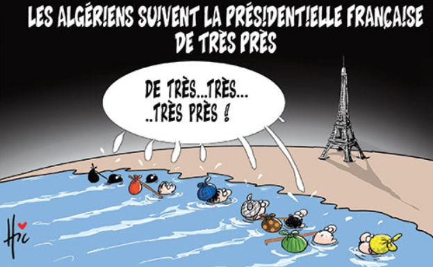 Les Algériens suivent la présidentielle française de très près