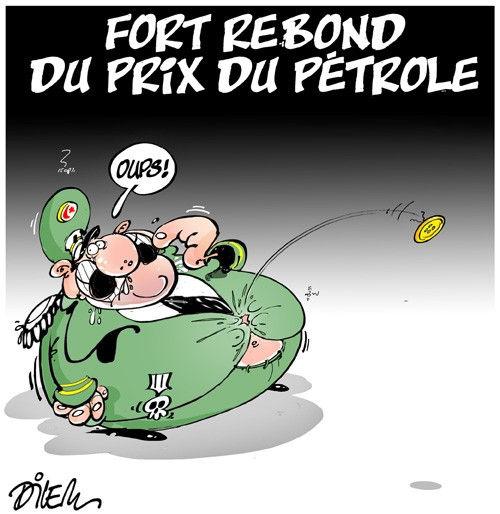Fort rebond du prix du pétrole