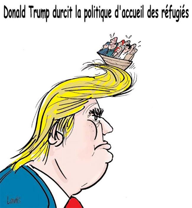 Donald Trump durcit la politique d'acceuil des réfugiés