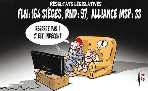 Résultats législatives / FLN: 164 sièges